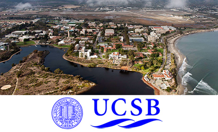 aeral view of UCSB campus