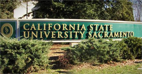 Sac State campus sign